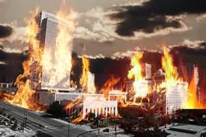 City Burning Down