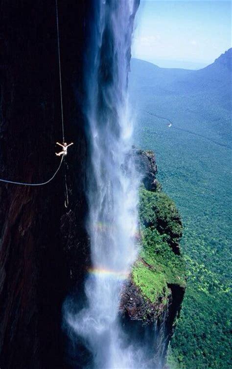 angel falls venezuela amazing jumping places ziplining zip bungee america lining south go wow friday inspiration latin visit waterfall angels
