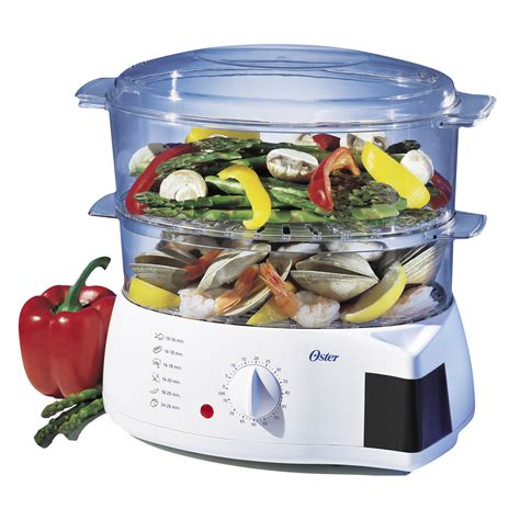 steamer cuisine oster 005711 000 000 6 quart mechanical food steamer