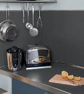 peinture v33 pour carrelage de credence cuisine en gris With peindre carrelage credence cuisine