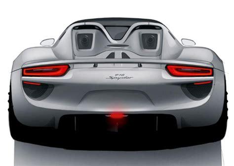 porsche  spyder plug  hybrid rear view torque news