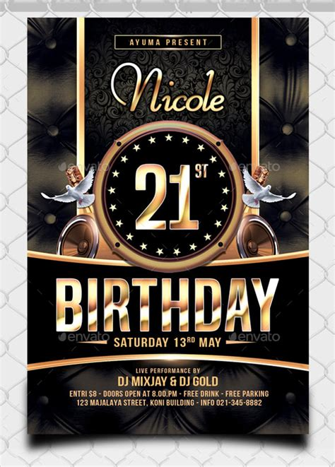 spectacular birthday flyer template