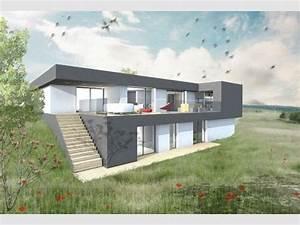 modele de maison terrain en pente architecture facades With plan maison demi niveau 14 vente de plan de maison avec terrain en pente