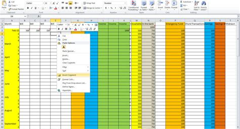 how to make a budgeting spreadsheet spreadsheets