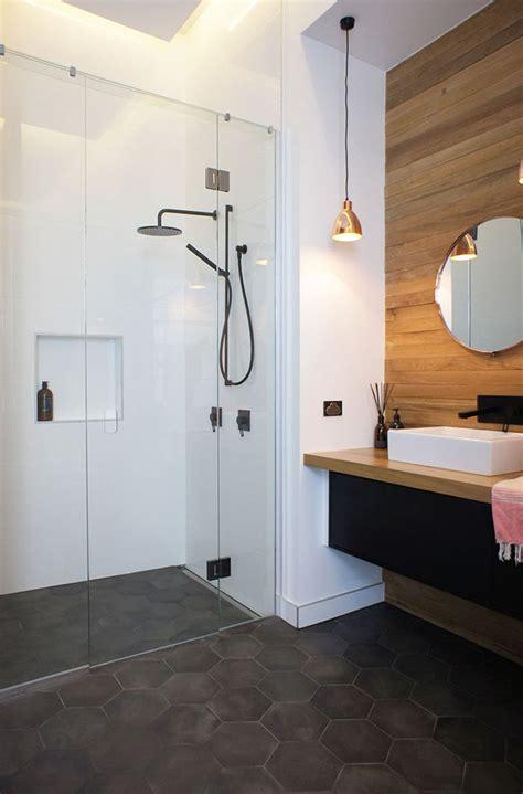 bathroom tile ideas grey hexagon tiles contemporist