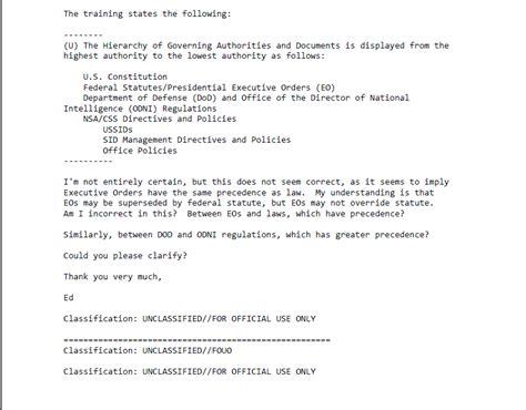edward snowden nsa emails internal channels