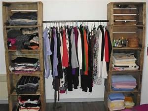 Dressing En Palette : armario con cajones y barral diy casa casita en ~ Melissatoandfro.com Idées de Décoration