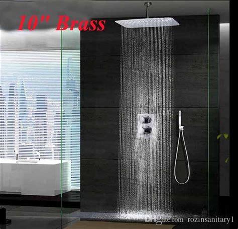 chrome  ceiling mounted rainfall shower head