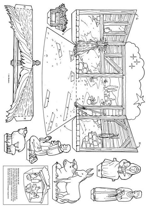 Kerststal Kleurplaat Olwassen by Bijbelse Knutselplaat Kerst Diorama Quot Kerststal Quot Gkv