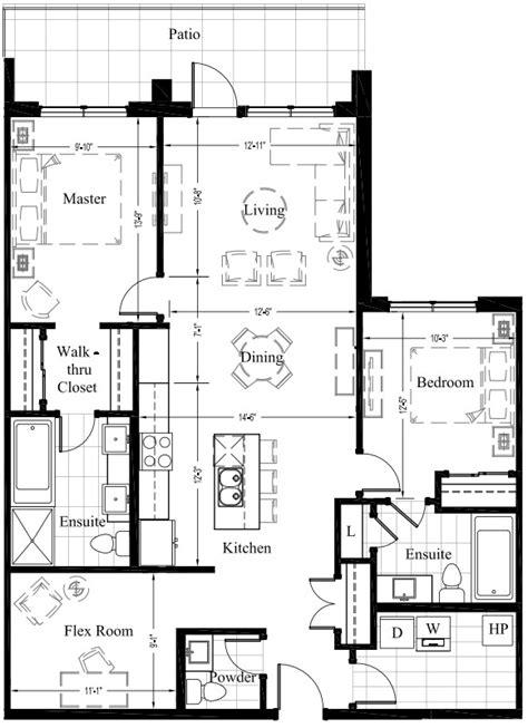 2 bedroom condo floor plans suite 105 1 270 sq ft 2 bedroom new condo floor plan