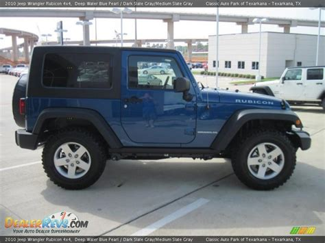 jeep dark gray 2010 jeep wrangler rubicon 4x4 deep water blue pearl