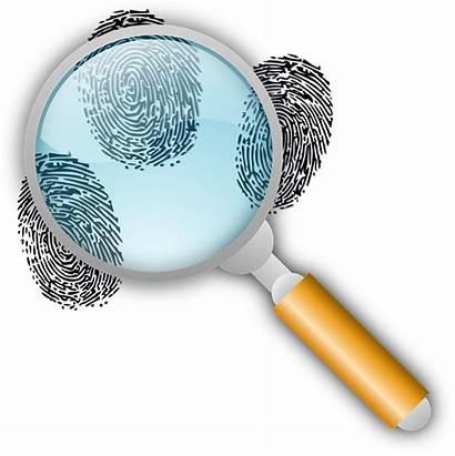 Detective Pistas Dedo Buscar Huellas Clip Fingerprint