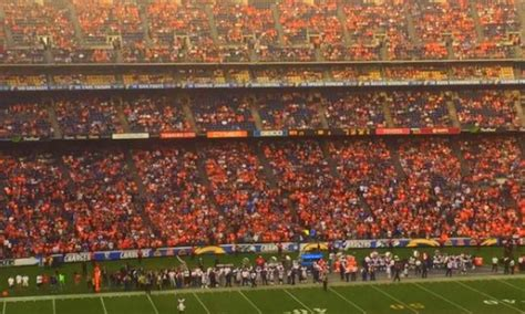 Chargers Tnf Game In San Diego Looks Like A Broncos Home