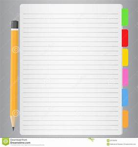 Lined Paper And Pencil Royalty Free Stock Images - Image ...