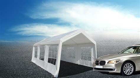 10x20 car white 10x20ft heavy duty garage carport canopy car