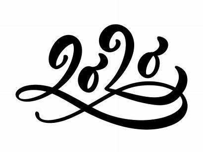 Calligraphy Vector Number Text Lettering Hand Flourish