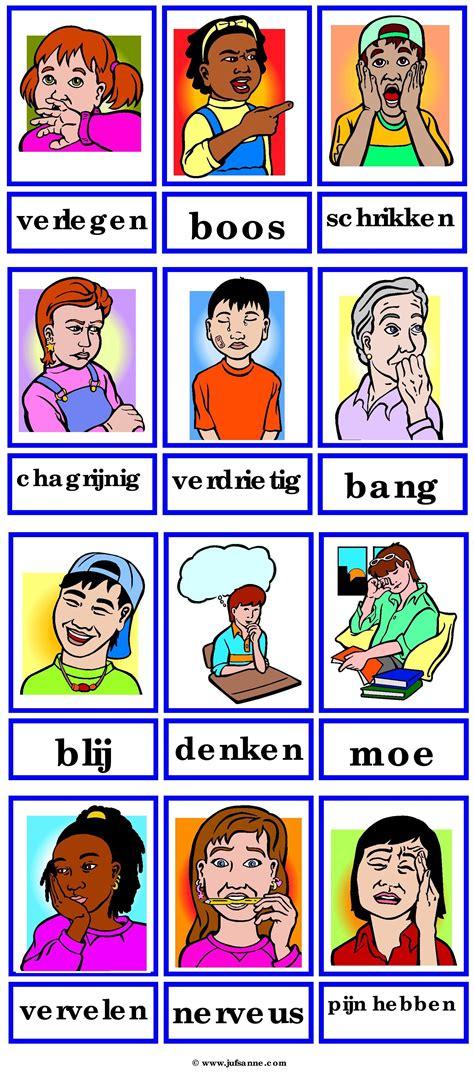 een huis vol emoties woordkaarten emoties nederlandse woordenschat