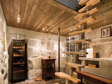 unfinished basement decorating ideas wine cellar