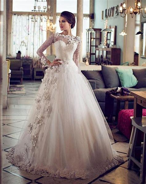 Vestidos De Novia Vintage Ball Gown Wedding Dresses Sheer