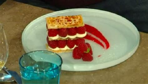 With your victoria sponge recipe, would it work do you think with replacing the yoghurt with vegan creme fraiche please? James Martin raspberry millefeuille recipe on Saturday Kitchen - The Talent Zone