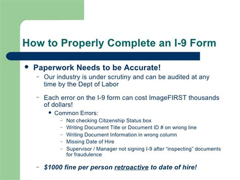 how to properly complete an i 9 form