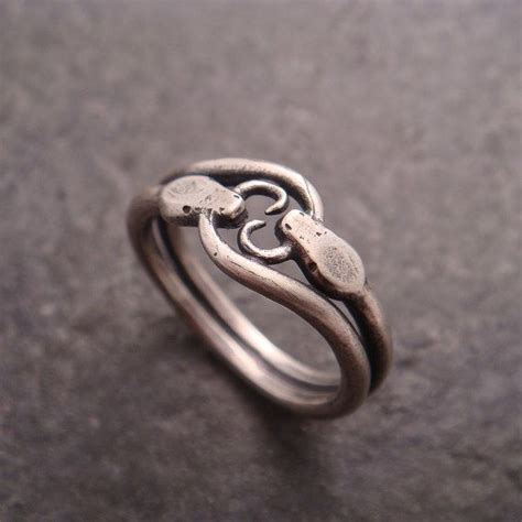 snake ring double ouroboros ring statement ring sterling silver ring mens ring womens ring