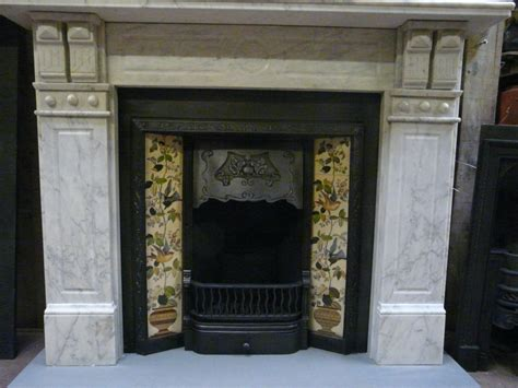 Victorian /Edwardian Carrara Marble Fire Surround   006MS