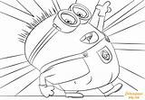 Minion Coloring Jerry Minions Drawing Printable Purple Dot Duck Cartoon Coloringpagesonly Categories sketch template