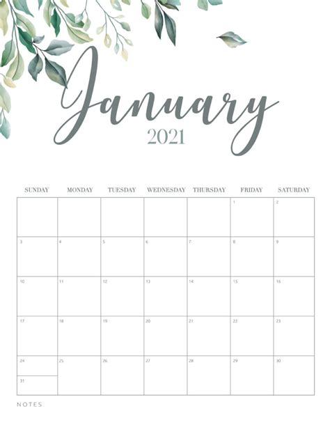minimal botanical   printable calendar world