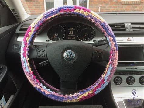 Hippie Lenkrad Abdeckung Bezug Auto Dekor Zubeh 246 R Auto Geschenk Gestrickt Geh 228 Kelt My Handmade