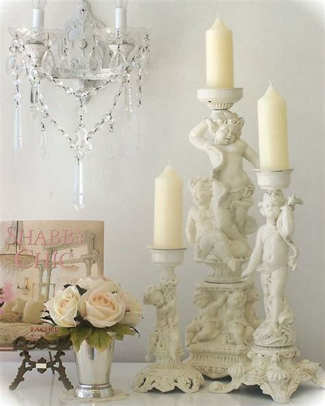 shabby chic candlesticks cherub candlesticks by mylulabelles via flickr shabby chic cherubs shabby chic lighting