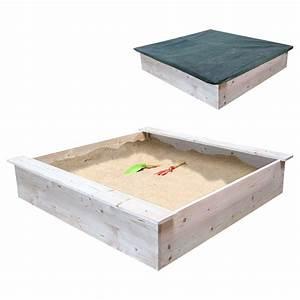 Bac à Sable Bois : bac sable en bois et 2 b ches sun sport king jouet ~ Premium-room.com Idées de Décoration