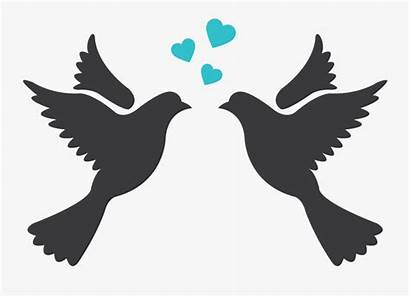 Silhouette Birds Drawing Clip Lovebird Clipart Clipartkey