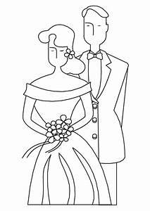 Dessin Couple Mariage Couleur : coloriage mariage couple ~ Melissatoandfro.com Idées de Décoration