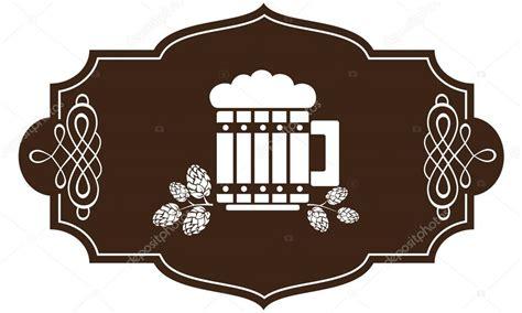 foto de stilizzato bicchiere di birra con rami di luppolo