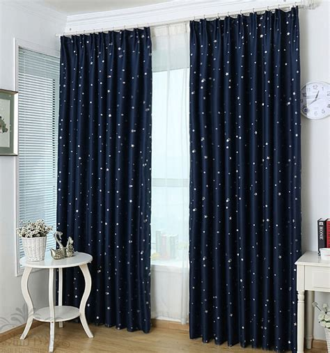 Navy Star Kids Blackout Curtains  Blue Curtains