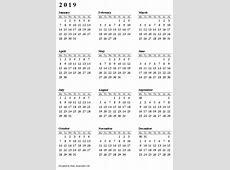 2019 Calendar FREE DOWNLOAD Your Calendar Guy