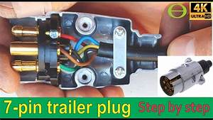 How To Wire A 7 Pin Trailer Plug  Diagram Shown