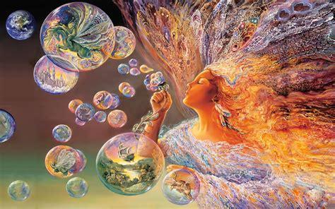 FONDITOS: Flores de burbuja - Fantasia, Mujeres, magia