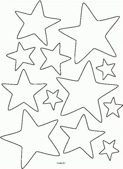 Coloring Star Printable Pages Shape Shapes Stars
