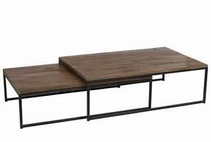 Table Salon Metal : table basse gigogne en m tal et bois jolipa ~ Teatrodelosmanantiales.com Idées de Décoration