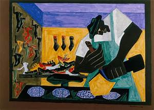 The Shoemaker, 1945 - Jacob Lawrence - WikiArt.org