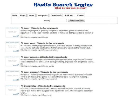 Media Search Engine Script