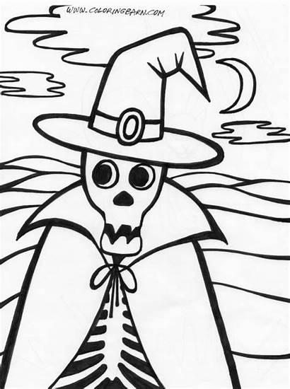 Halloween Coloring Skeleton Pages Printables Printable Skeletons