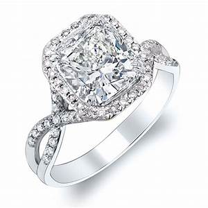 cushion cut engagement rings 9 With cushion wedding rings