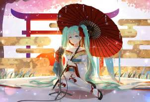 Anime Anime Girls Vocaloid Hatsune Miku Aqua Eyes