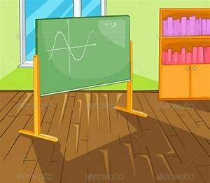 Classroom Cartoon | GraphicRiver