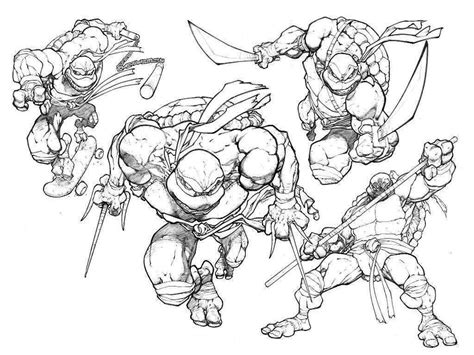 Tmnt Coloring Pages Printable Free Coloring Home