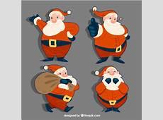 Set van met de hand getekende kerstman stickers Vector