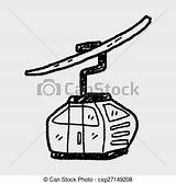 Cable Clipart Vector Doodle Ropeway Clip Trolley Gondola Ski Illustration Cabin Mountain Illustrations Coloring Royalty Cars Drawings Drawing Clipground Gograph sketch template